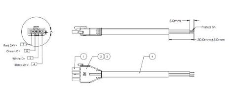 Philips Color Kinetics 308-000001-03 6.5` Vaya Power/Data Cable 308-000001-03