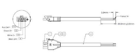 Philips Color Kinetics 308-000001-02 25` Vaya Power/Data Cable 308-000001-02