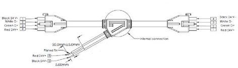 "Philips Color Kinetics 308-000001-09 25' Power, 12"" Data Vaya Y Cable 308-000001-09"