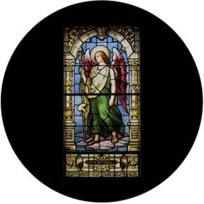 Rosco Laboratories 86677 The Angel Raphael Stained Glass Gobo 86677