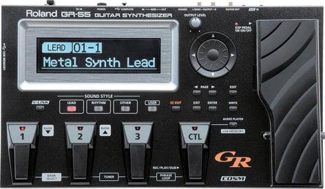 Roland GR55GK-BK Guitar Synthesizer in Black with GK-3 Divided Pickup, Cable GR55GK-BK