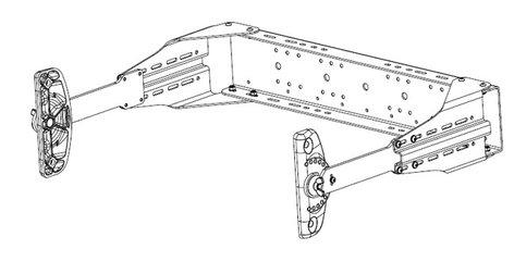 EAW-Eastern Acoustic Wrks UBKT-S1 Adjustable S1 U-Bracket, Black UBKT-S1