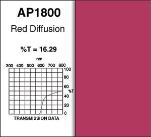 Apollo Design Technology AP-R1800-25 2' x 25' Red Diffusion Gel Roll AP-R1800-25