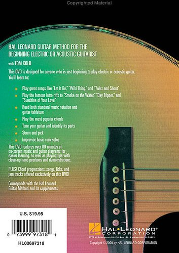 Hal Leonard 00697318 Guitar Method DVD 00697318