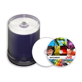 JVC JDPR-WPT-SK8 White Thermal Printable DVD+R, priced individually JDPR-WPT-SK8