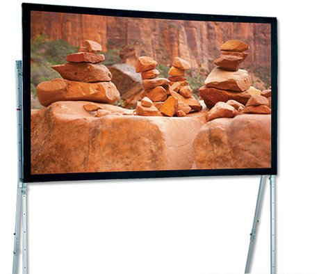 "Draper Shade and Screen 241181  Portable Projection Screen, 83"" x 144"", w/Standard Legs 241181"