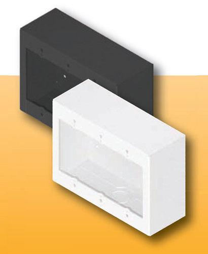 FSR, Inc SMWB-3G-BLK 3 Gang Surface Mount Gang Box, Black, Model #17190 SMWB-3G-BLK