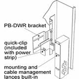 Middle Atlantic Products PB-DWR 1 Pair of Power Strip Brackets PBDWR