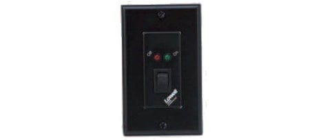 Lowell RPSB-P Single Gang Black Decora-Style Maintained Closure Rocker Switch Wall Plate with 1 LED RPSB-P