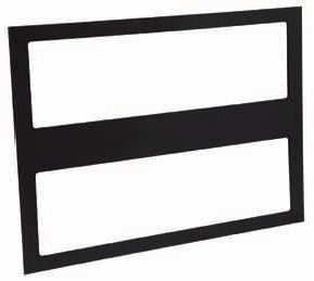 Philips Color Kinetics 120-000095-00 Black Gel Frame for IntelliWhite iW Reach TR Powercore Fixture 120-000095-00