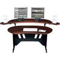 "Middle Atlantic Products ES-DC 60"" Edit Center Dark Cherry Desk with Overbridge ES-DC"