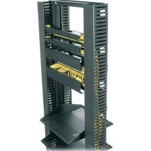 """Middle Atlantic Products PCD-1.5X4-4BK 1.5"""" W Plastic Cable Management Duct with Cover PCD-1.5X4-4BK"""