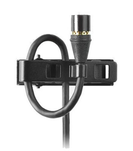 Shure MX150B/O-TQG TQG Omnidirectional Condenser Submini Lavalier Microphone, in Black MX150B/O-TQG