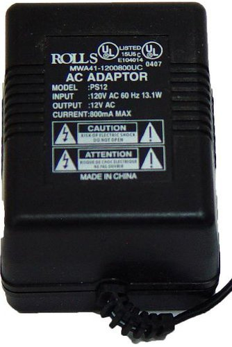 Rolls PS12 12VAC 800mA Power Adapter PS12-ROLLS