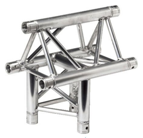Global Truss TR4096H-O 1.64 ft 3 Way Horizontal T-Junction - Apex Out TR4096H-O