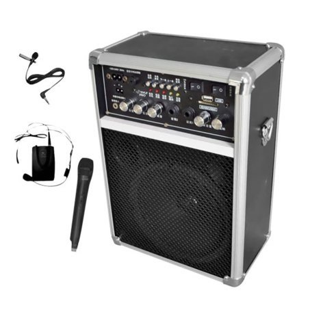 Pyle Pro PWMA170  400W Dual-Channel Wireless PA System with 2 VHF Wireless Microphones PWMA170
