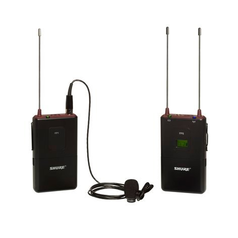 Shure FP15/83-G4 FP Series Wireless Bodypack System with WL183 Lavalier Microphone, 470-494 MHz FP15/83-G4