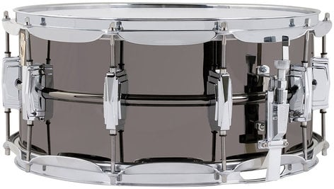 "Ludwig Drums LB417 6.5""x14"" Black Beauty Brass Snare Drum iin Black Nickel Finish LB417"