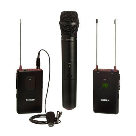 Shure FP125/83VP68-J3 FP Bodypack/Handheld Wireless System with WL183 and VP68, 572-596 FP125/83VP68-J3