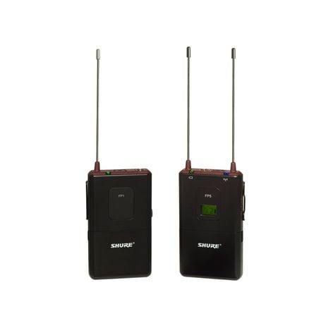 Shure FP15-G5 FP Bodypack Wireless System for Lav, Headset & Instrument Mics, 494-518 FP15-G5