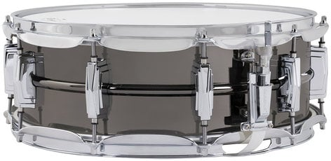 """Ludwig Drums LB416 5""""x14"""" Black Beauty Brass Snare Drum with Black Nickel Finish LB416"""