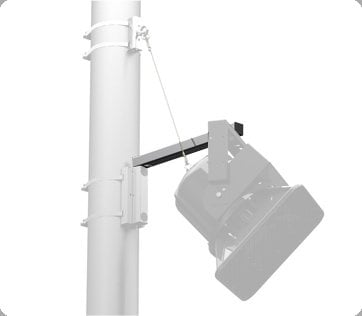"Allen Products/Adaptive Technologies PM-SA-24 Pole Mount Support Arm, 24"" PM-SA-24"