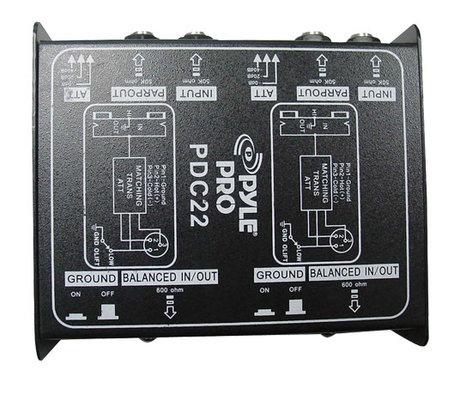 Pyle Pro PDC22 Dual Passive Direct Box PDC22