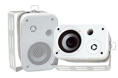 """Pyle Pro PDWR30W Pair of 3.5"""" Outdoor Speakers in White PDWR30W"""