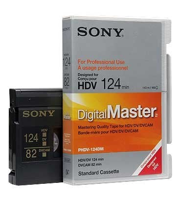 Sony PHDV124DM DVCAM/HDV Standard Cassette, 124 min. PHDV124DM