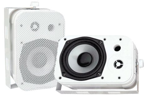 "Pyle Pro PDWR40W 5.25"" Outdoor Speaker in White PDWR40W"