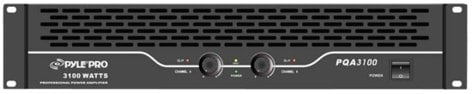 """Pyle Pro PQA3100 19""""W Rackmount 3100W Power Amplifier PQA3100"""