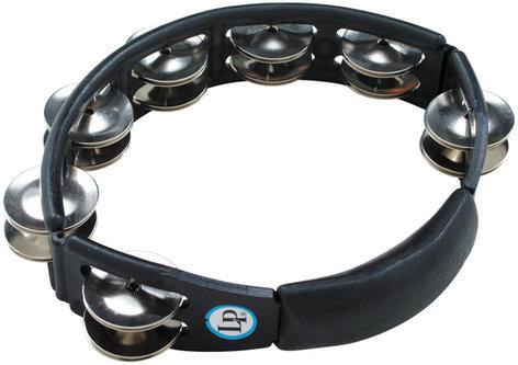 Latin Percussion LP150 Cyclops Handheld Tambourine in Black with Steel Jingles LP150