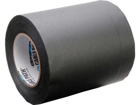"""Rose Brand CABLEPATH-6""""-BLK 30 Yard Roll of 6"""" W Black Tunnel Tape CABLEPATH-6""""-BLK"""