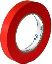 """Rose Brand CONSOLE-1""""TAPE-RED 60 Yard Roll of 1"""" W Red Console/Board Tape CONSOLE-1""""TAPE-RED"""