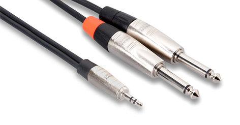 Hosa HMP-010Y REAN 3.5mm TRS to Dual 1/4 in, 10ft HMP-010Y