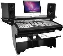 Omnirax Coda-EX Mixing/Edit Desk in Melamine Black CODA-EX