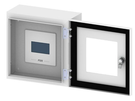FSR OWB-CP1-W-WHT Outdoor Wall Box and Cover with Window OWB-CP1-W-WHT