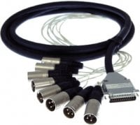 Pro Co DA88XM-5 5 ft. DB25 Multipin to 8x XLR-M Analog D-Sub Studio Patch Cable DA88XM-5