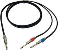 "Pro Co IPBQ2Q-1 1 ft. Excellines 1/4"" TRS Male to 2x 1/4"" TS Males Insert Patch Y-Cable IPBQ2Q-1"
