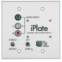 Pro Co iPlate Portable Audio Player Interface Wall Plate IPLATE