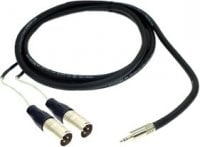 Pro Co IPMB2XM-1 1 ft. Excellines 3.5mm TRS-M to 2x XLR-M Sound Card Cable IPMB2XM-1