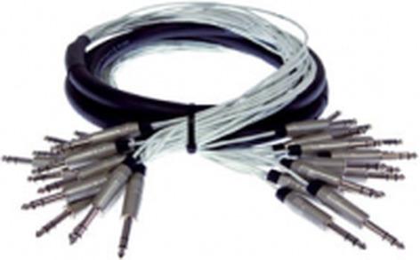 "Pro Co MT16BQBQ-10 10 ft. 16-Channel 1/4"" TRS Male to Male Studio Patch Snake MT16BQBQ-10"