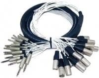 "Pro Co MT24BQXM-20 20 ft. 24-Channel 1/4"" TRS Male to XLR-M Studio Patch Snake MT24BQXM-20"