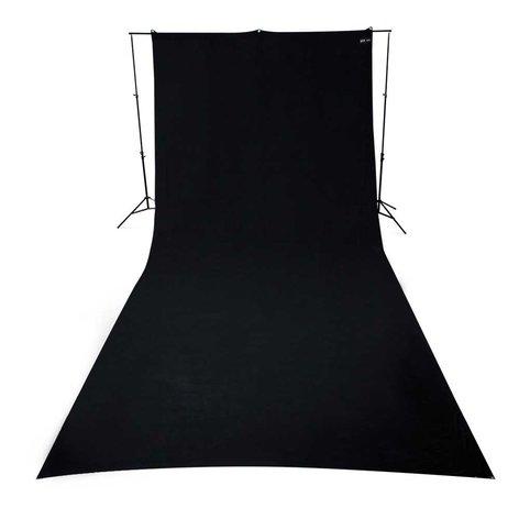 Westcott 138 9ft x 20ft Wrinkle-Resistant Cotton Backdrop in Black 138-WESTCOTT
