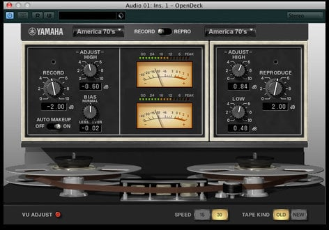 Steinberg Vintage Open Deck Analog Tape Software Plug-in (VST3/VST2.4/AU) VINTAGE-OPEN-DECK