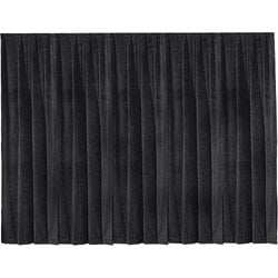 Da-Lite 36795 16' x 13' Black Ultra Velour Drapery Panel 36795