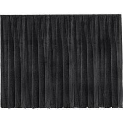 Da-Lite 36795 16' x 13' Black Ultra Velour Drapery Panel 36795