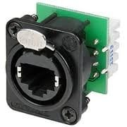 Pro Co NE8FDV-YK-B Black Ethercon Panel Connector NE8FDV-YK-B-PROCO