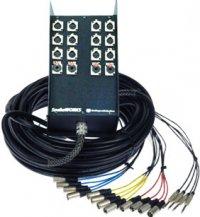 Pro Co RM0602FBX-100 100 ft. RoadMASTER 6-Channel Multipair Audio Snake, 2x XLR Return Fan to Box RM0602FBX-100