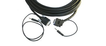 Kramer CP-GMA/GMA-XL-75 15-pin HD to 15-pin HD & Audio Plenum Cable with a 45° Side-Angled Connector (75') CP-GMA/GMA-XL-75